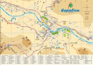 Plan De La Ville DEspalion En Aveyron